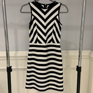 Loft Stripped Sleeveless Dress